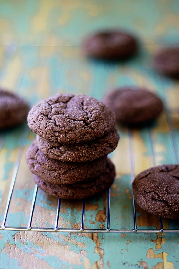 sparkly chocolate snickerdoodles from Kitchen Treaty