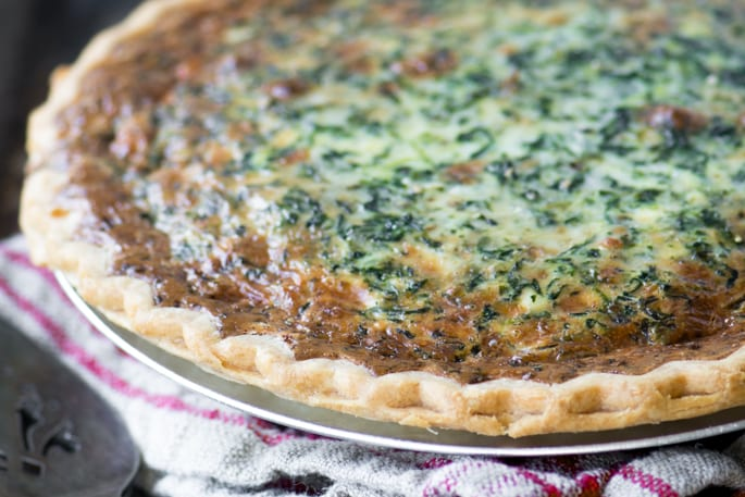 Spinach Artichoke Quiche ~ theviewfromgreatisland.com