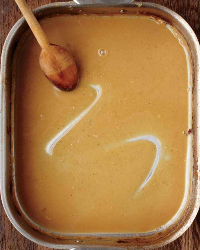 Pan Drippings Gravy from Martha Stewart