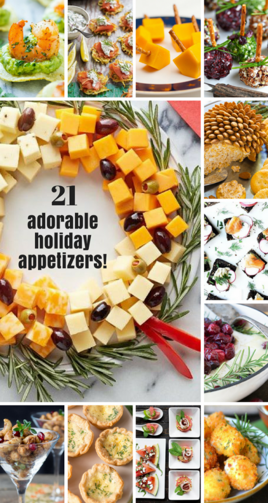 21 Adorable and Easy Holiday Appetizers ~ theviewfromgreatisland.com