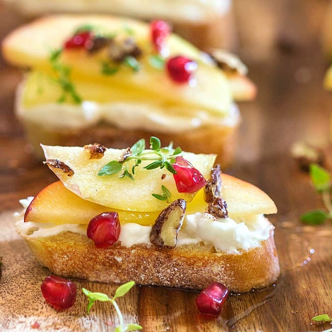 Apple Crostini from Simply Fresh Dinners
