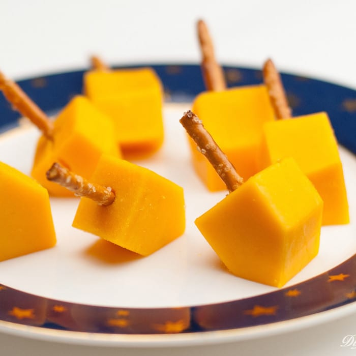 Cheese Dreidels from Di Lusso