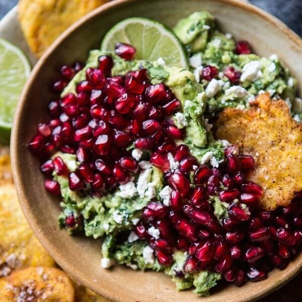 Pomegranate Guacamole from Half Baked Harvest