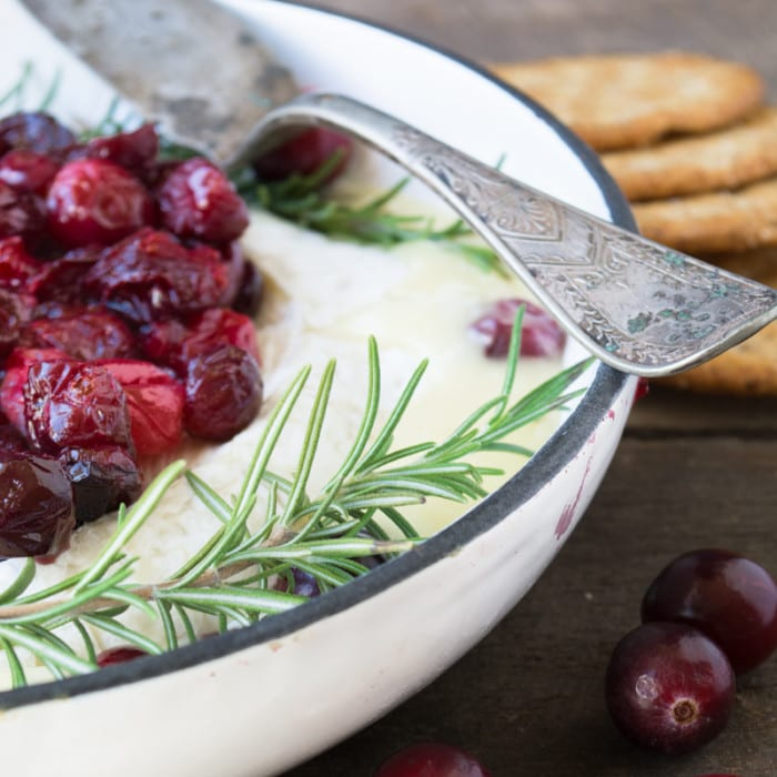 Baked Brie with roasted cranberries from The View from Great Island