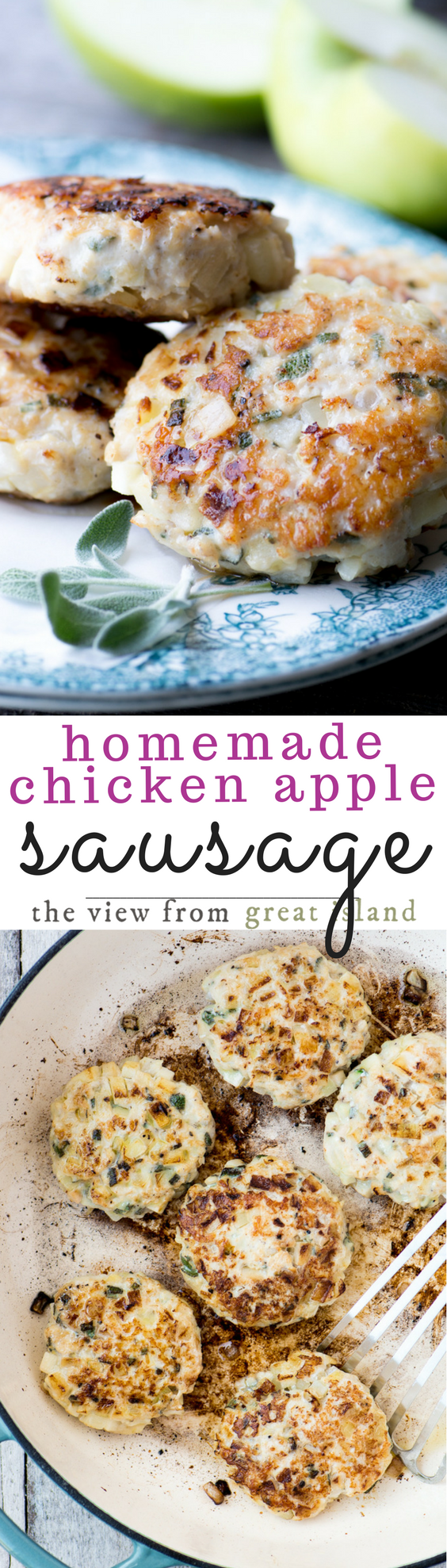 Homemade Chicken Apple Sausage pin