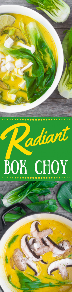 Radiant Bok Choy elevates an under-appreciated veggie to the star status it deserves. I team it up with golden turmeric in this revitalizing soup full of anti-oxidants and anti-inflammatories ~ theviewfromgreatisland.com