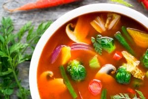 Winter Weight Loss Soup is colorful, delicious, and effective! ~ theviewfromgreatisland.com
