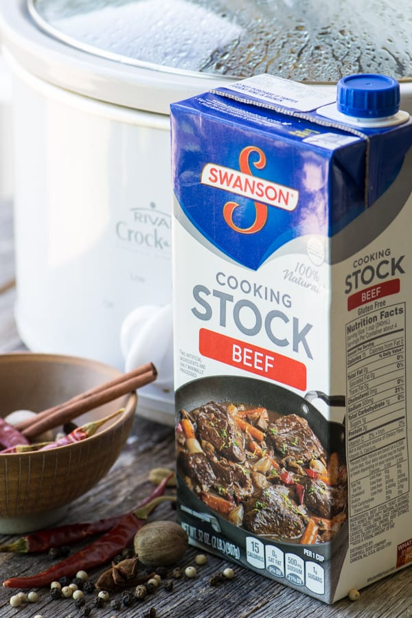 Swanson Beef Stock for Slow Cooker Homemade Pho ~ theviewfromgreatisland.com