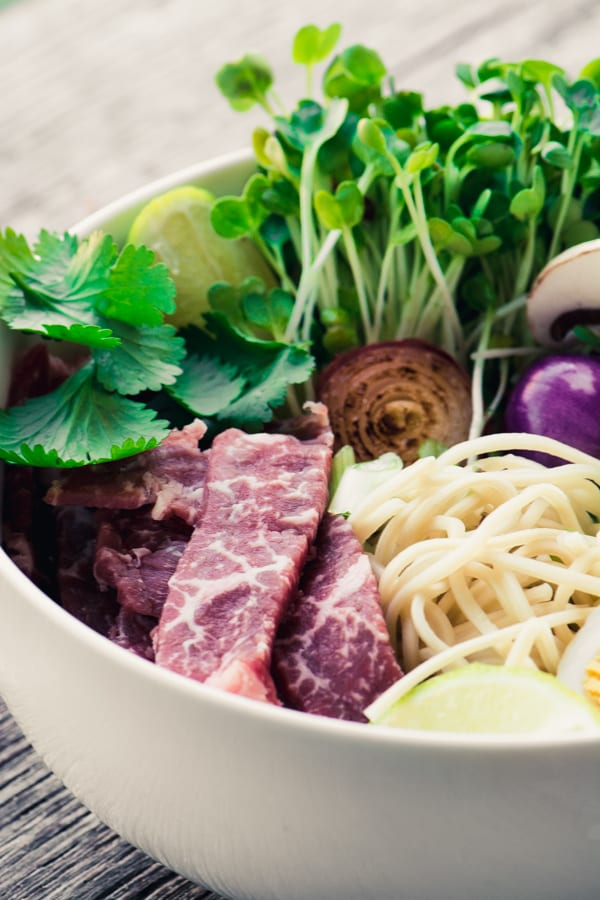 Slow Cooker Weeknight Pho ~ a quick and easy version of the traditional Vietnamese noodle bowl ~ theviewfromgreatisland.com
