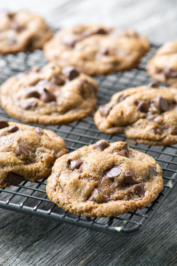 Easy gluten and dairy free Flourless Pecan Chocolate Chip Cookies ~ theviewfromgreatisalnd.com