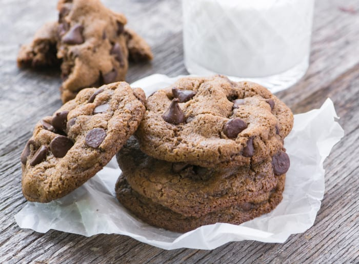 Flourless (gluten free) Pecan Chocolate Chip Cookies ~ theviewfromgreatisland.com