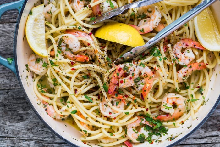 Shrimp Scampi Fra Diavolo is a spicy sexy 30 minute meal that is guaranteed to get sparks flying! ~ theviewfromgreatisland.com