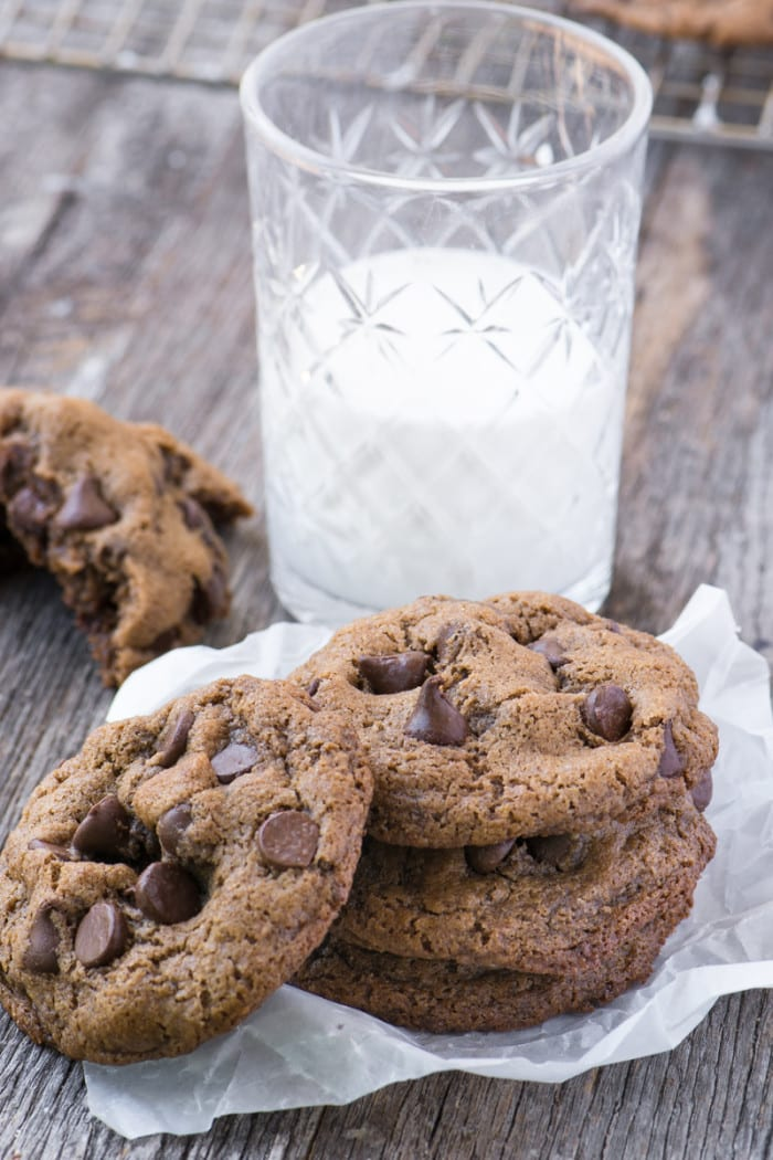 Flourless Pecan Chocolate Chip Cookies, made without flour or butter ~ gluten free and delicious! ~ theviewfromgreatisland.com