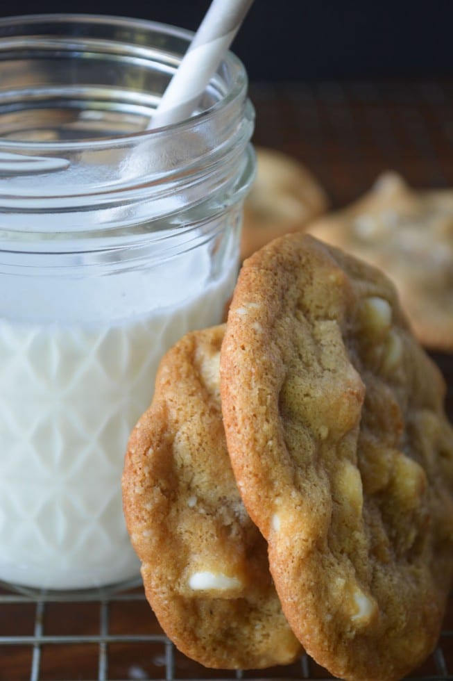 Fabulous Flourless Cookies ~ White Chocolate Chip Macadamia Cookies