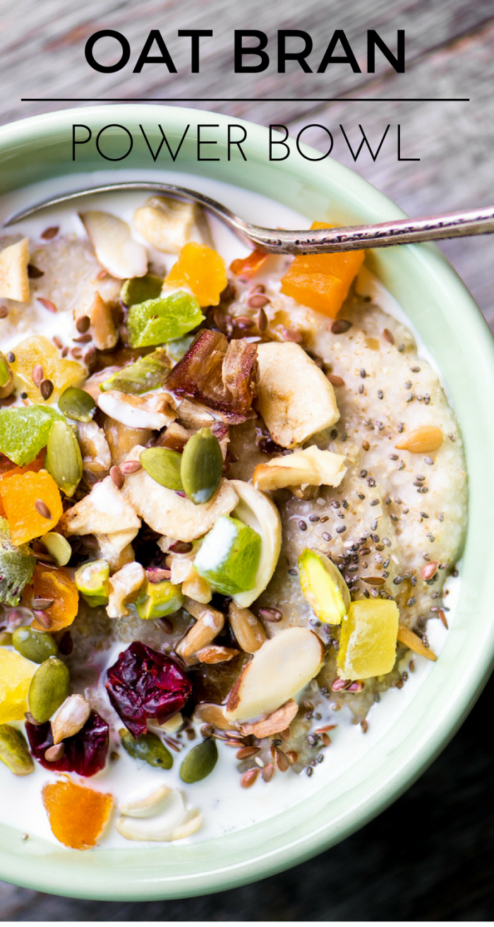 This Oat Bran Power Bowl is a delicious way to jump start your morning, this hot cereal is gluten free, full of protein, and even healtheir than oatmeal! ~ theviewfromgreatisland.com