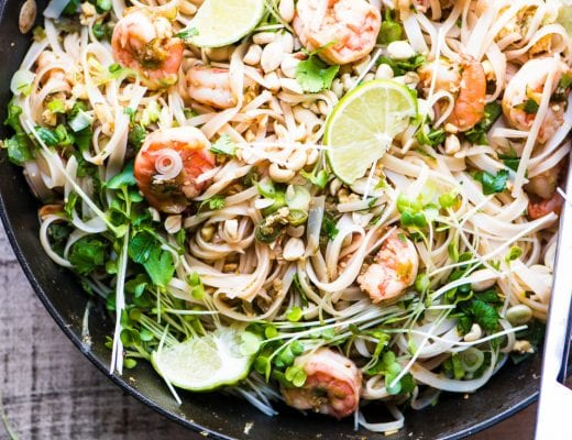 Shrimp Pad Thai ~ a better version of take-out! ~ theviewfromgreatisland.com