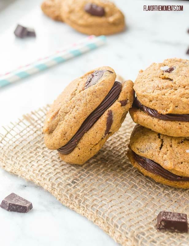 Flourless Almond Butter Chocolate Chunk Sandwich Cookies ~ 25 MORE Fabulous Flourless Cookies