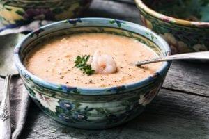Classic and elegant Shrimp Bisque ~ theviewfromgreatisland.com