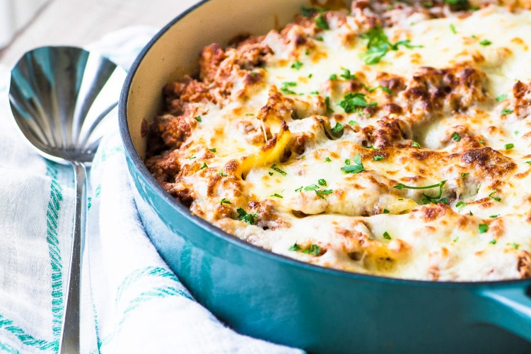 Stuffed Shells Bolognese is a stepped up version of a family dinnertime classic ~ theviewfromgreatisland.com