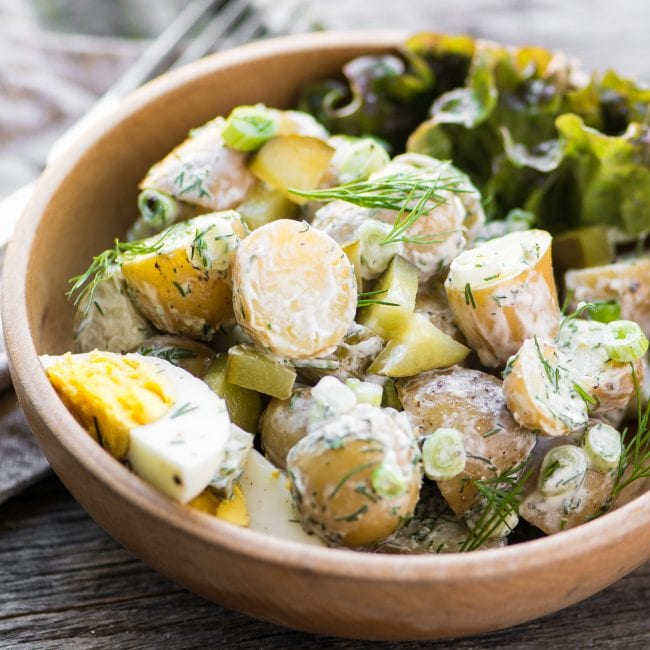 Dill Pickle Potato Salad ~ theviewfromgreatisland.com