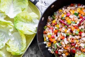 Firecracker Chicken Lettuce Wraps