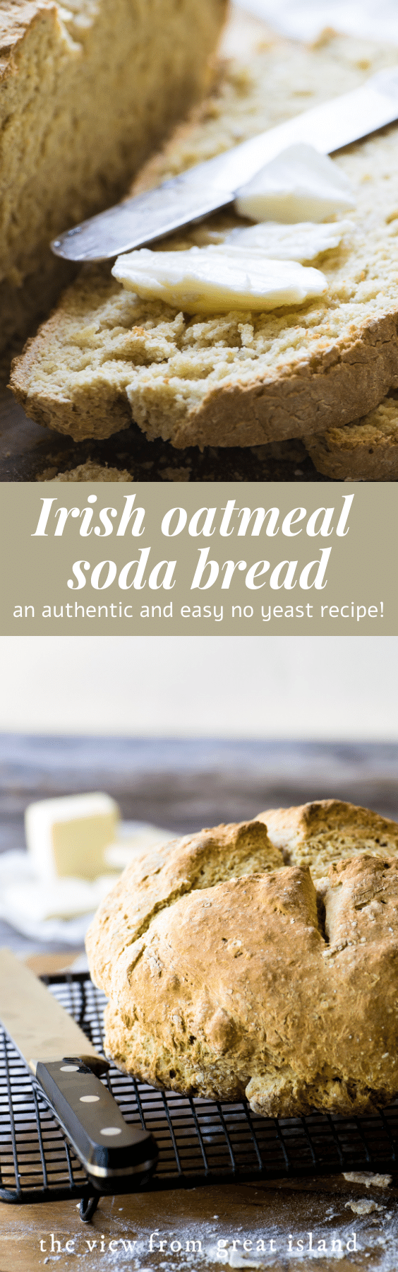 irish oatmeal soda bread pin