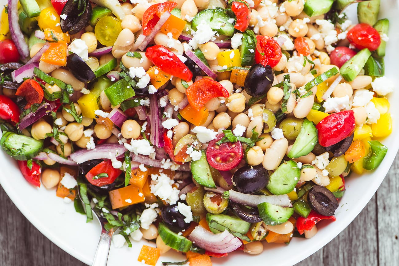 Colorful and crunchy Mediterranean Bean Salad