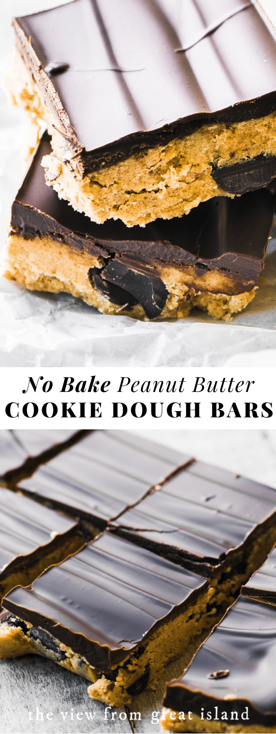 no bake cookie dough bars pin