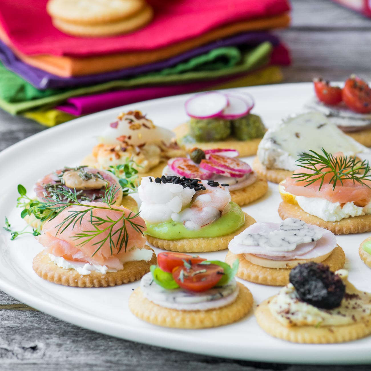 Easy ritz cracker canap s video the view from great island for Canape with ingredients