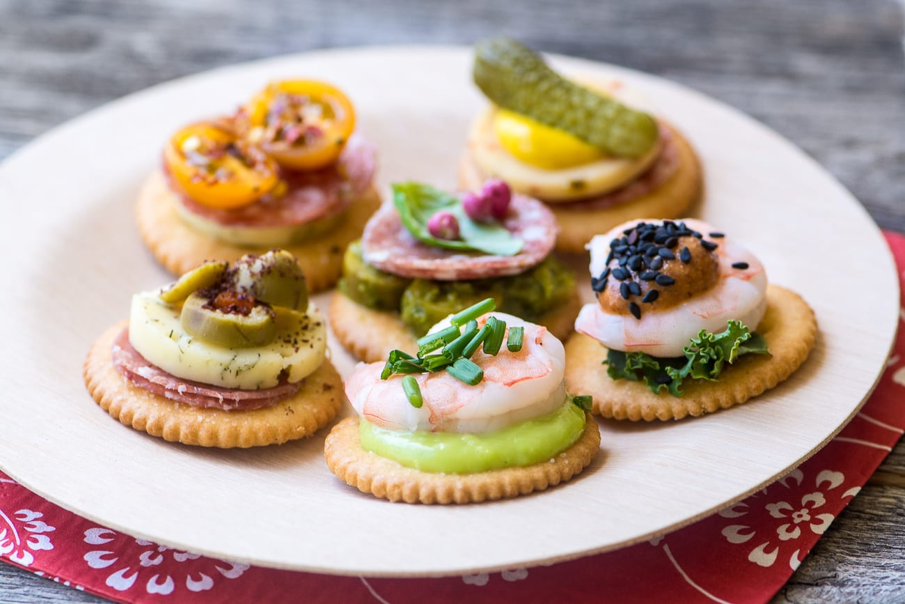 Easy ritz cracker canap s video the view from great island for Simple canape ideas