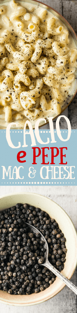 Cacio e Pepe Macaroni and Cheese marries the uber simple but powerfully flavored classic Italian pasta with everybody's favorite comfort food ~ delish! |Italian | pasta | dinner | cheese | pepper and cheese pasta