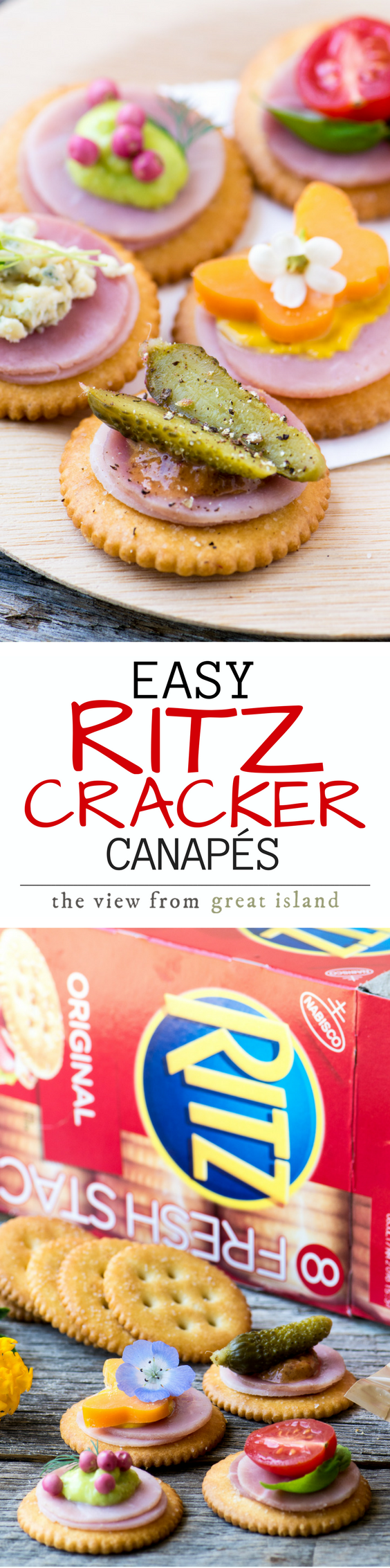 Easy ritz cracker canap s video the view from great island for Canape using fita