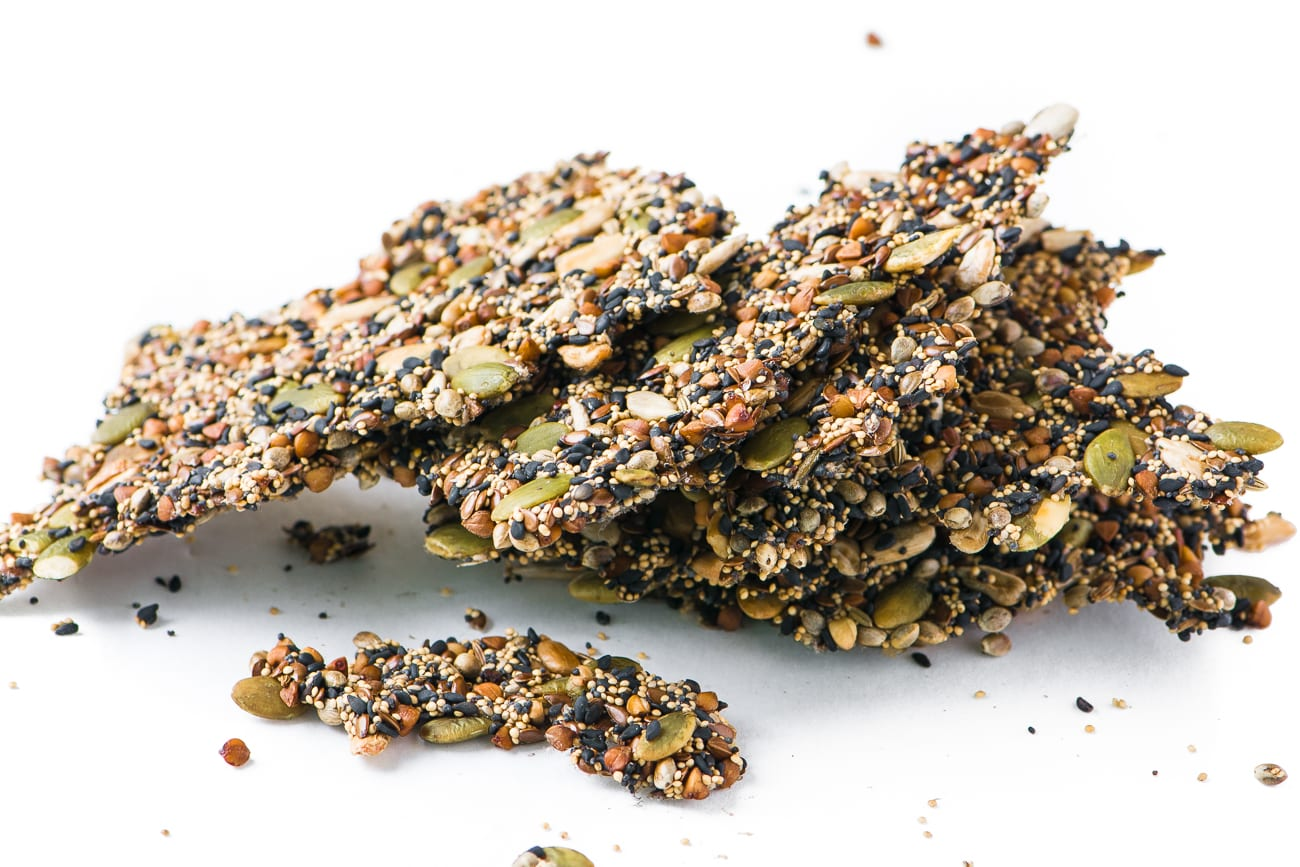 Multi Seeded Crisps are a delicious vegan cracker that's perfect for snacking and dipping!