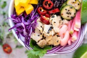 Hawaiian Poke Bowls with Canned Tuna