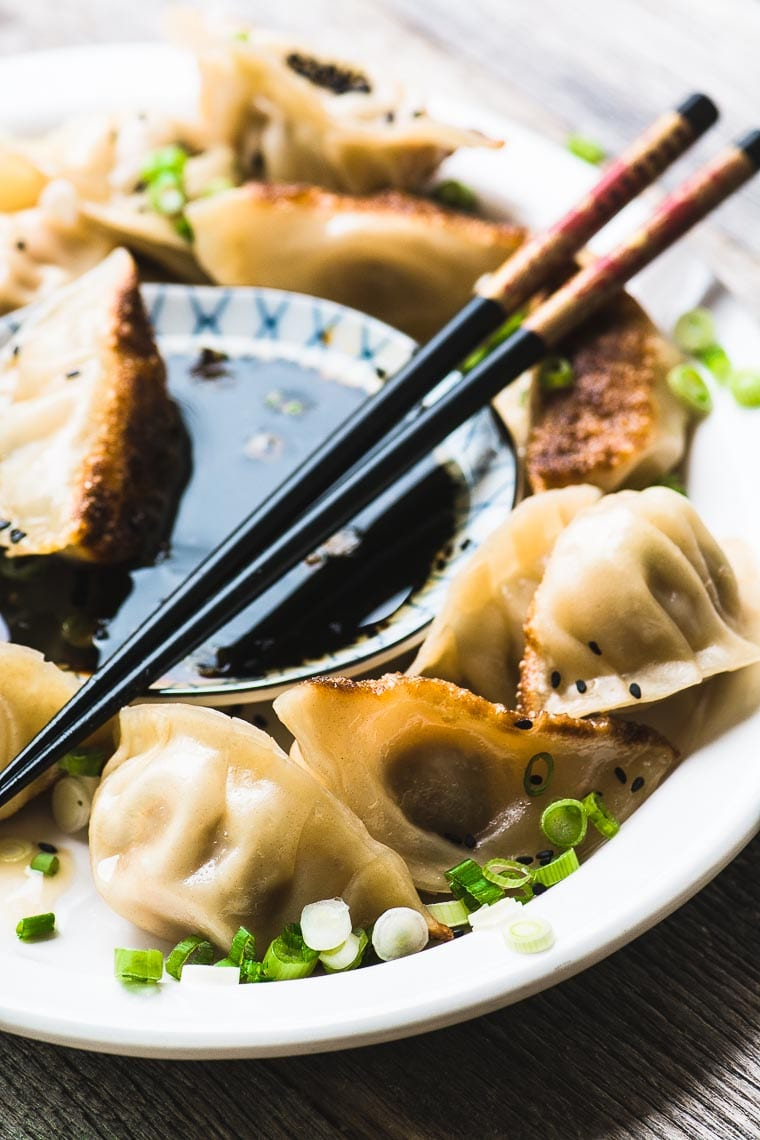 Japanese Pork Dumplings with ginger and green onions