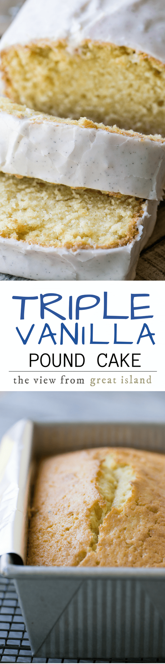 Triple Vanilla Pound Cake pin