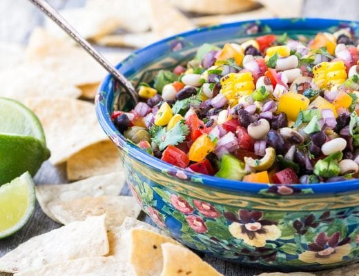 Cowboy Caviar ~ whether you call it Texas caviar, black bean salsa, black eyed pea salad, or Southwestern bean salad, this cross between a salsa and a salad is just plain GOOD!