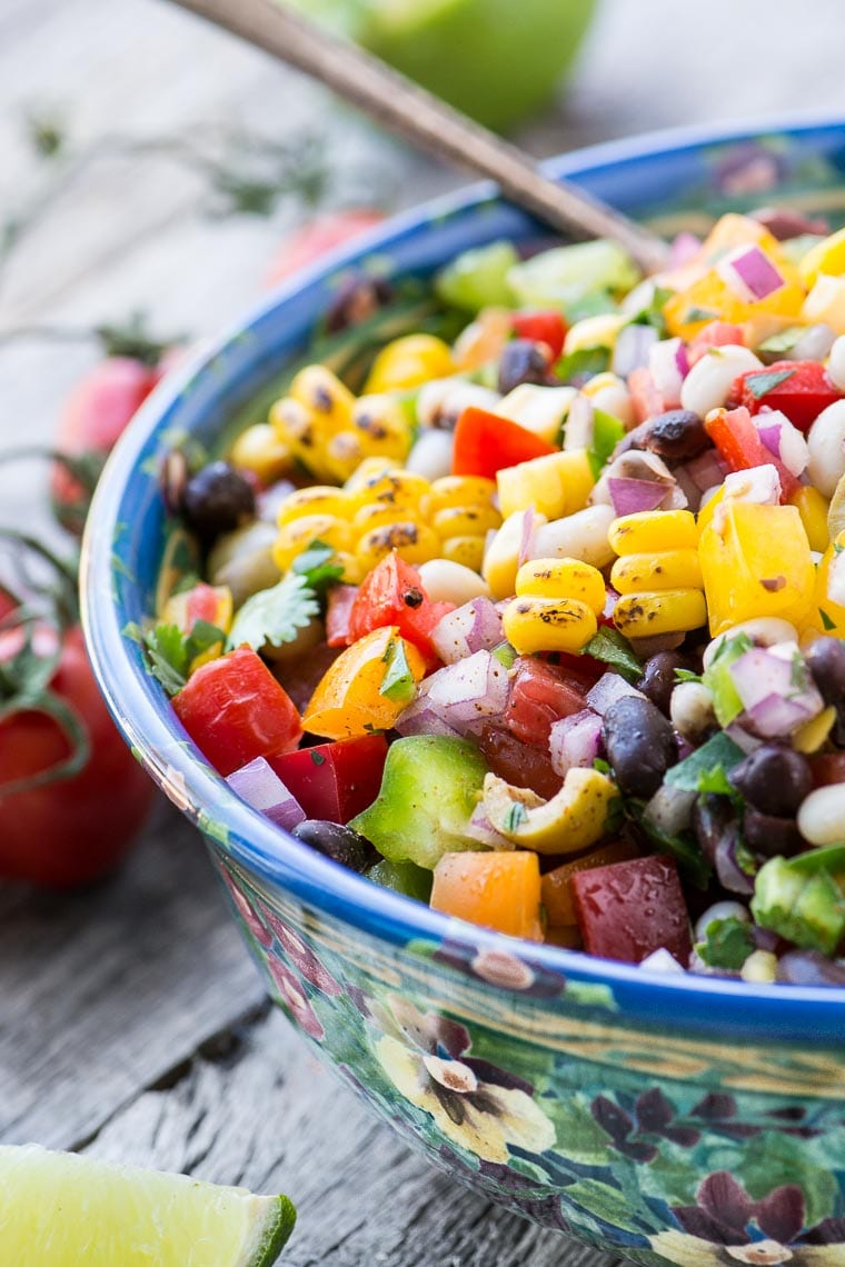 Cowboy Caviar is a high protein, high fiber salsa or side salad that will take you right through the spring and summer season ~ everybody raves about it!