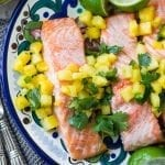 Salmon with Pineapple Jalapeno Salsa