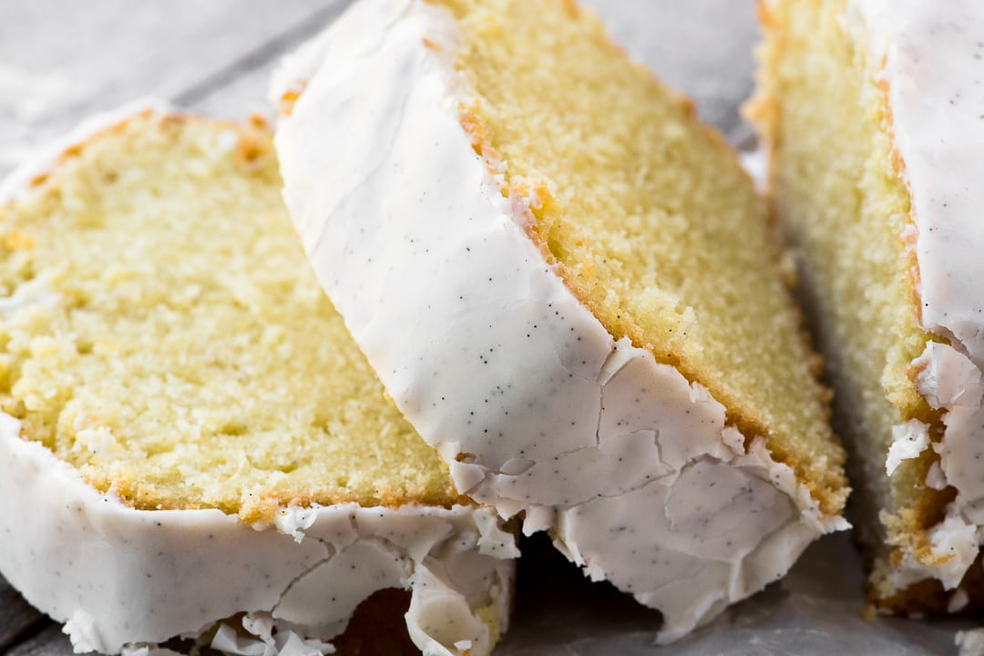 Triple Vanilla Pound Cake