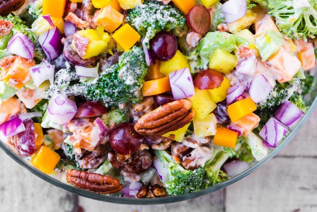 Broccoli Salad with Pineapple and Bacon