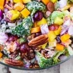 Broccoli Salad with Pineapple, Bacon, and Spiced Pecans