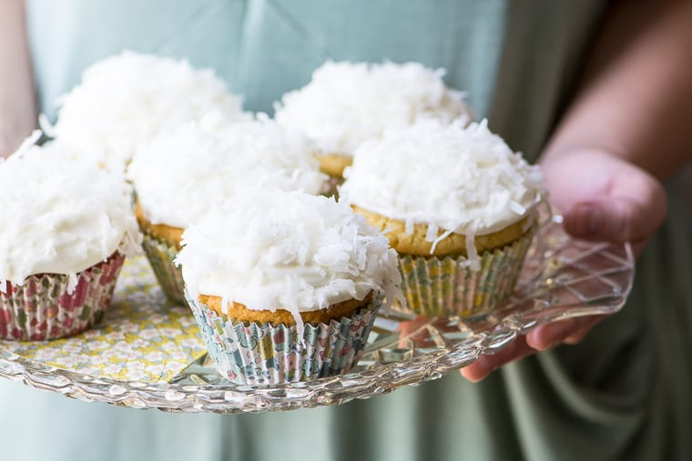 Ina Garten's Coconut Cupcakes ~ these easy-peasy tender coconutty cupcakes are topped with the most insanely delicious coconut cream cheese frosting ~ these cupcakes are foolproof!