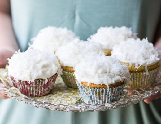 Ina Garten's Coconut Cupcakes ~ easy-peasy tender moist coco-nutty cupcakes topped with the most insanely delicious coconut cream cheese frosting ~ these are perfect for spring flings!