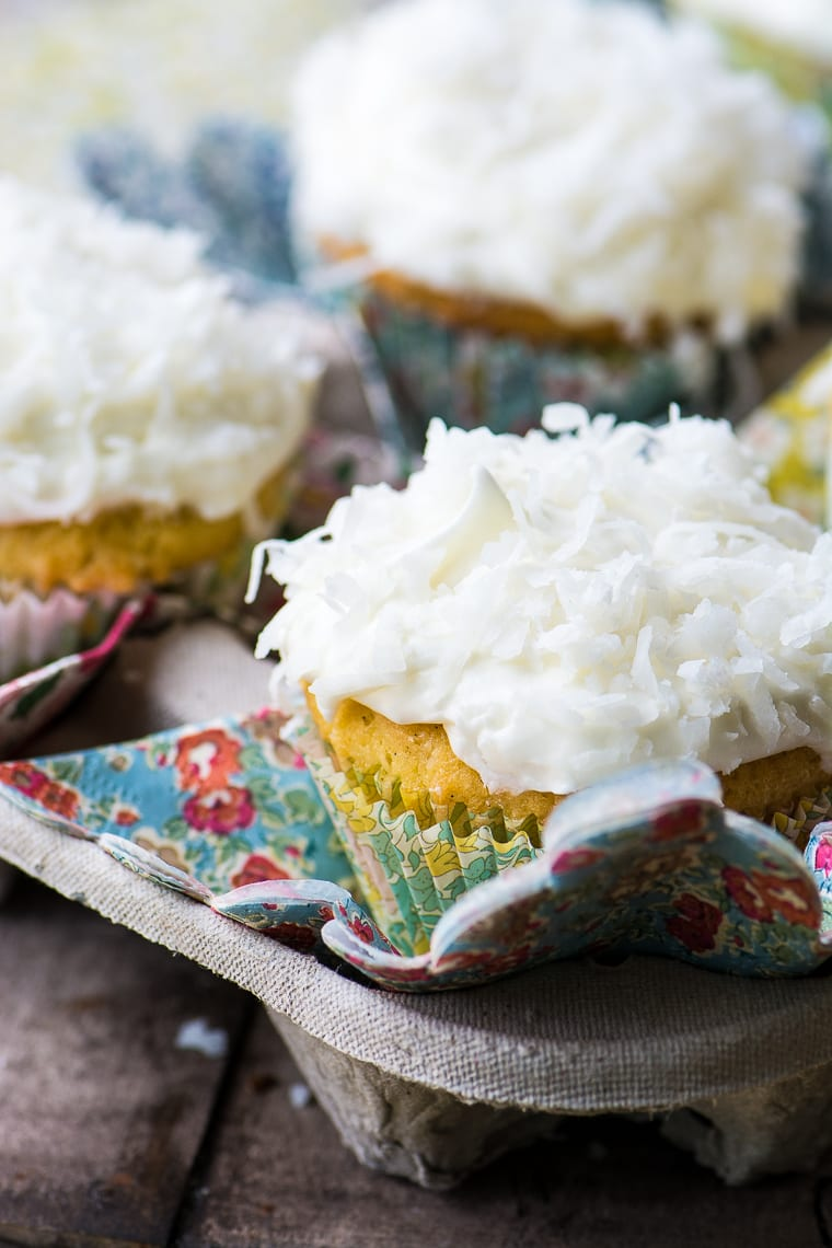 Ina Garten's Coconut Cupcakes ~ these are the iconic cupcakes from Barefoot Contessa ~ how can you resist?