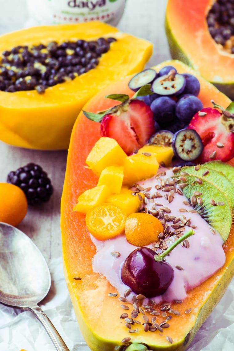 Papaya Breakfast Boats ~ a gorgeously healthy way to do breakfast!