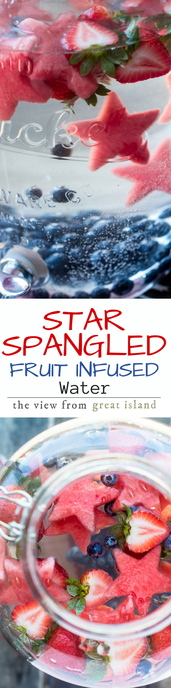 Star Spangled Fruit Infused Water pin