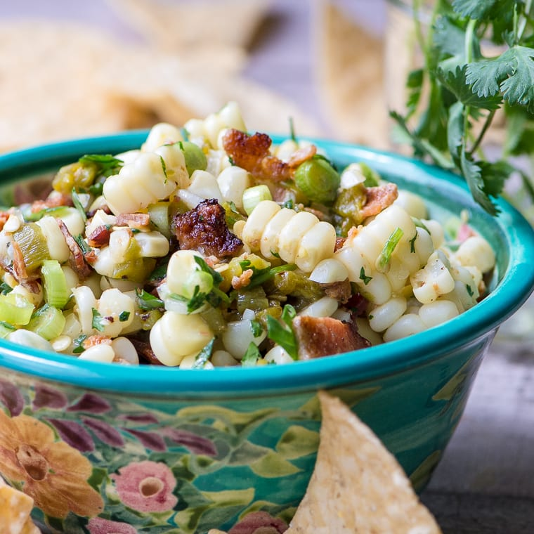 Sweet Corn, Hatch Chile, and Bacon Salsa