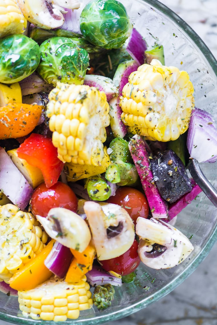 Fresh veggies for Sausage and Vegetable Grill Packets