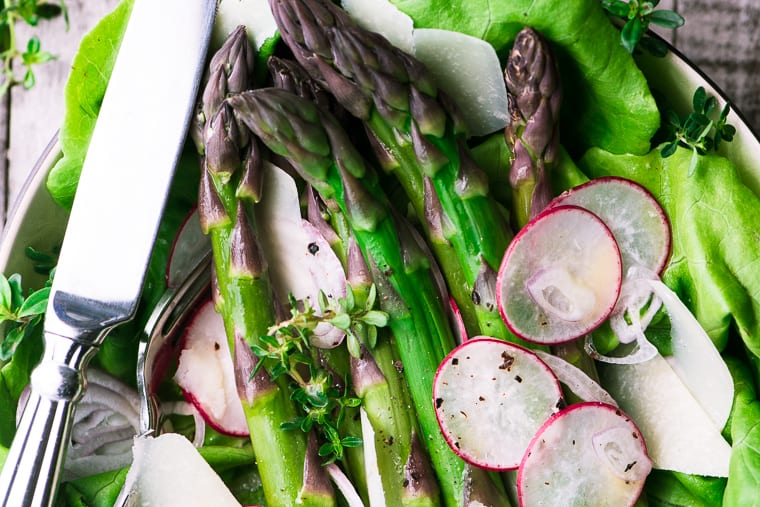Asparagus Salad with Mimosa Vinaigrette
